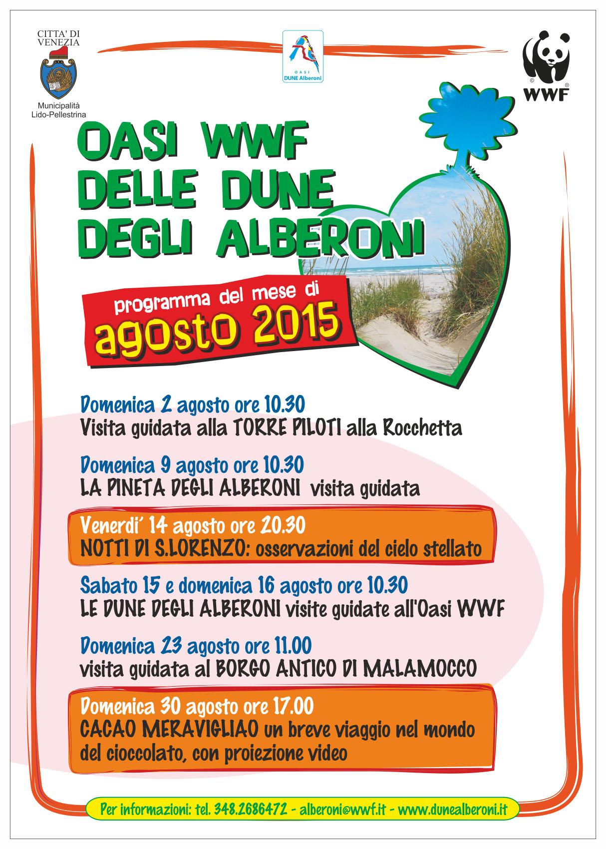 Locandina Agosto Dune Alberoni